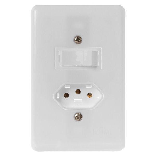 Conjunto 1 Interruptor + Tomada
