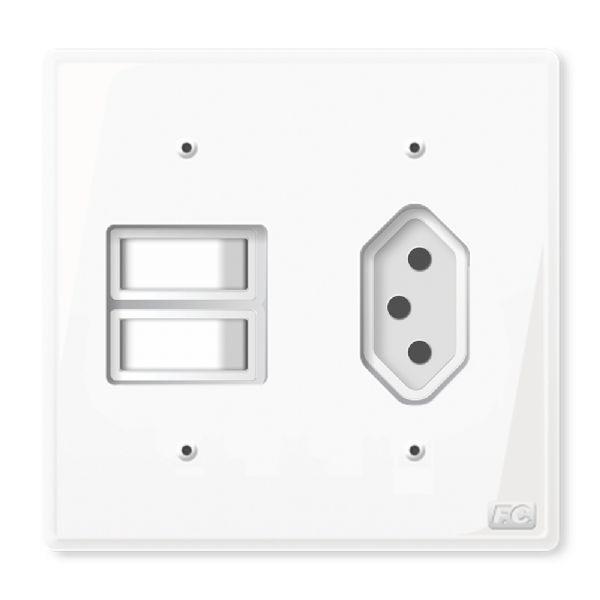 Conjunto 2 Interruptores + Tomada