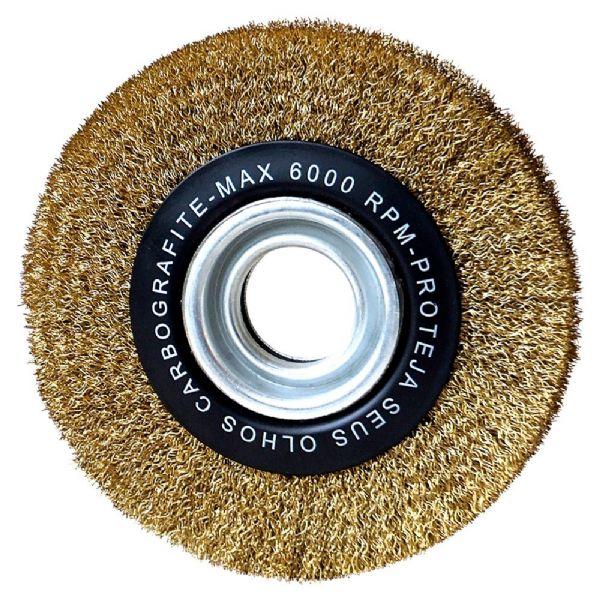 Escova de Aço Circular Ondulada