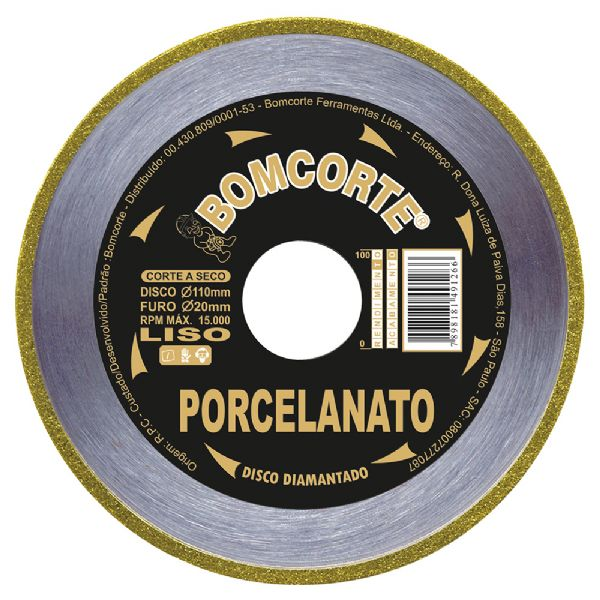 Disco Diamantado Porcelanato